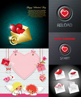 Valentine's Day Romantic Elements - Vector Material Romance Valentine's Day Heart