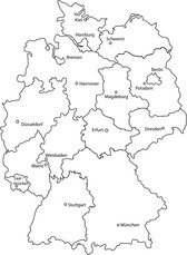 Deutschlandkarte - Germany Map