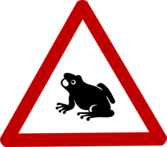 Caution Frog Sign
