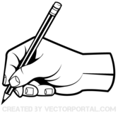 Human Hand Holding a Pencil