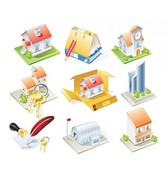 9 Housing Related Icons Vector Set