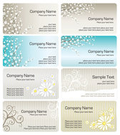 Exquisite pattern business card template 01 - vector materia
