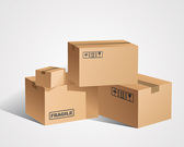 Cardboard Box Vector Set (Free)