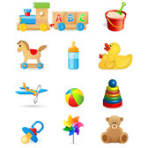 Beautiful toys for children vector-1