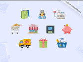 Charming Boutique Icon Set