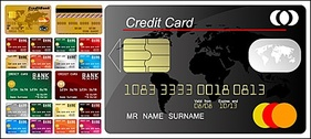 Multiple credit card template
