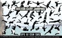 12 Vector cliff jumping