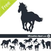 HORSES SILHOUETTES VECTOR PACK.eps