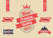 Free Red Vector Label Set