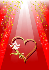 Valentine's Day Ribbon Heart-shaped And Colorful Background Vec Valentine's