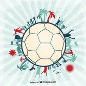 Football soccer players vector ball design