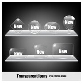 transparent crystal icons
