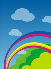 Rainbow Background PSD