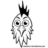 ROOSTER HEAD VECTOR IMAGE.ai