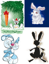 Cute Cartoon Rabbit Image - Vector Cute Carrot Posters