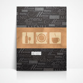 Free vector about menu coffee design