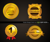 Four Golden Badges Template