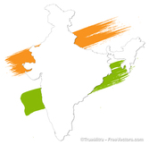 Painted India Map
