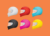 Colorful Motorcycle Helmet Vectors