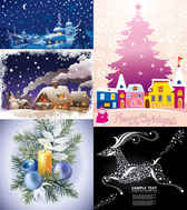 Christmas cartoon snow background