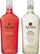 Bacardi strawberry and pina colada drinks PSD
