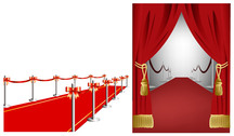 Red Carpet Curtain Vector Source Material