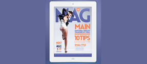 Magazine Brochure PSD Cover Template