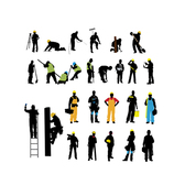 Silhouette Various Labor Profession Pack