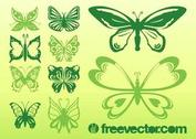 Butterflies Vectors Collection