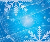 Blue Snowflakes Swirl Abstract
