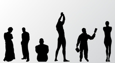 Free Vector Set: of People Silhouettes