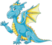 Blue And Yellow Dragon PSD