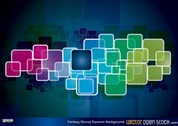 Free Vector Fantasy Glossy Squares Background