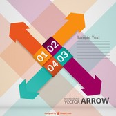 Arrows background free graphic
