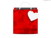 Valentine's day shopping bag (PSD)