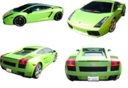 Green Lamborghini SET 2 PSD