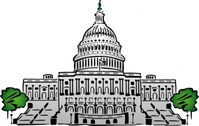 Us Capitol Building Clipart Style