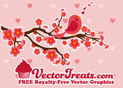 Valentine's Day Vector Love Birds