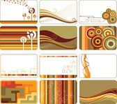 Free vector about fashion card template pattern download