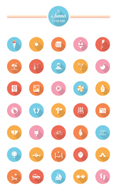 35 Summer Vector Icons