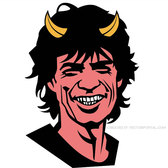 SYMPATHY FOR THE DEVIL MICK JAGGER VECTOR.eps