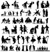 Free Vector 19th Century Silhouettes