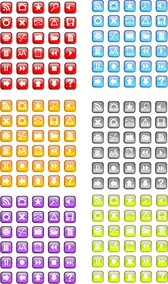 30 Free Vidro Icon Vector pack in six colors