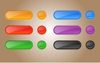 Glossy Template Button Pack