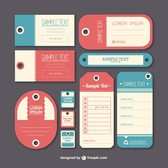 Vintage label tags template