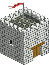 Castle Tower Isometric