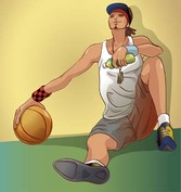 Basketball sport vector 5