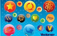 Glossy Design Badges Mouth Lips Arrows