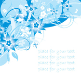 Simple Blue Hand-painted Flowers And Patterns Of Text Backgroun Simple Designs Backgrounds