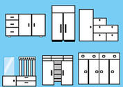Furniture and Closet Vectors